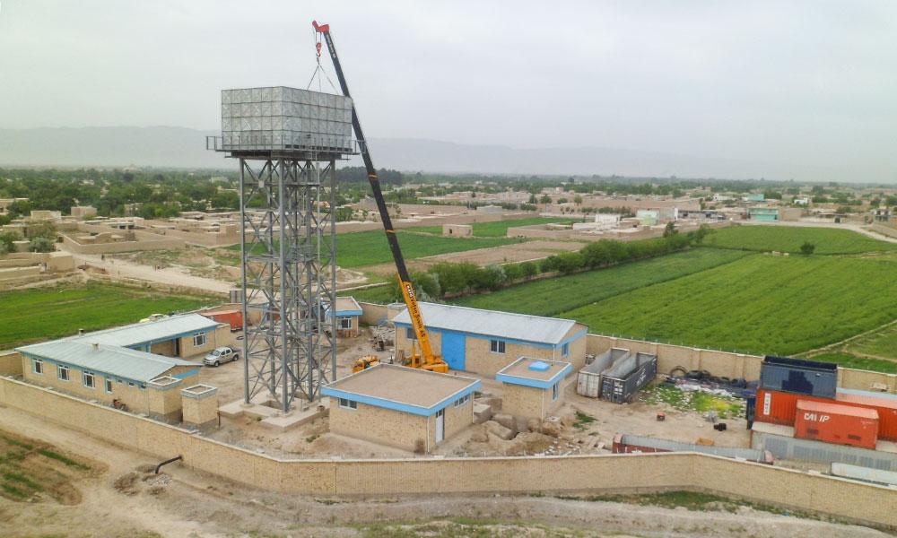 Ludwig Pfeiffer Neubau Druckwassertank Afghanistan